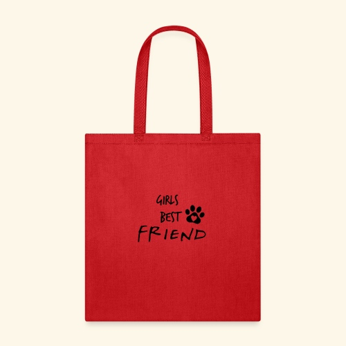 girls best friend Paw Print - Tote Bag