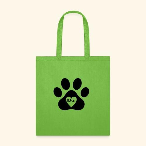 Dog Paw B.F.F. Design - Tote Bag