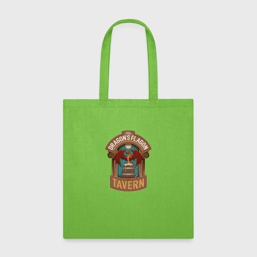 the dragons flagon tavern dragon fantasy - Tote Bag