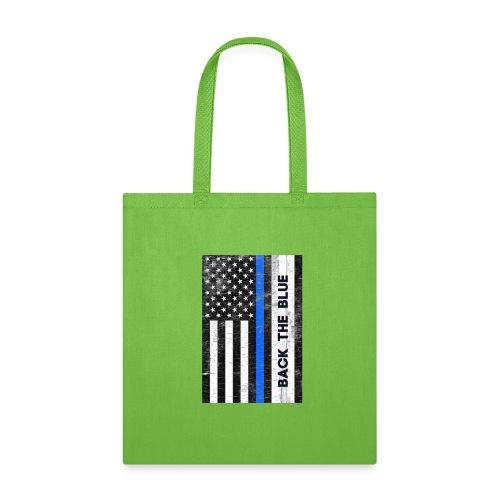 BACK THE Blue Police Officer USA - Tote Bag