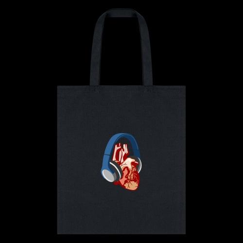 Heartbeats for Music Headphones - Tote Bag