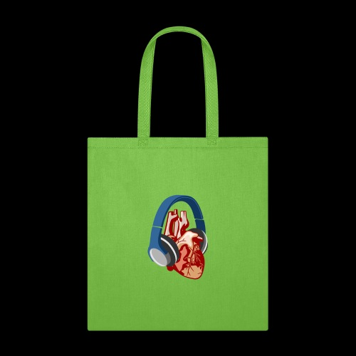 Heartbeats for Music Headphones - Tote Bag