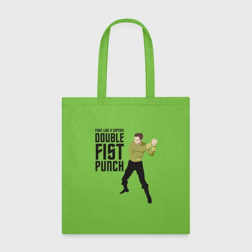 Captain Kirk Double Fist Punch - Tote Bag