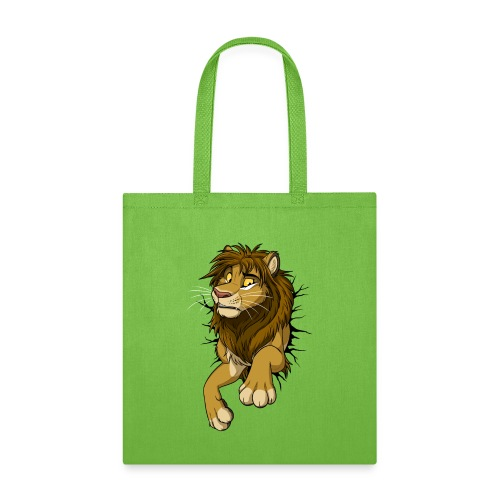 STUCK Lion (black cracks) - Tote Bag