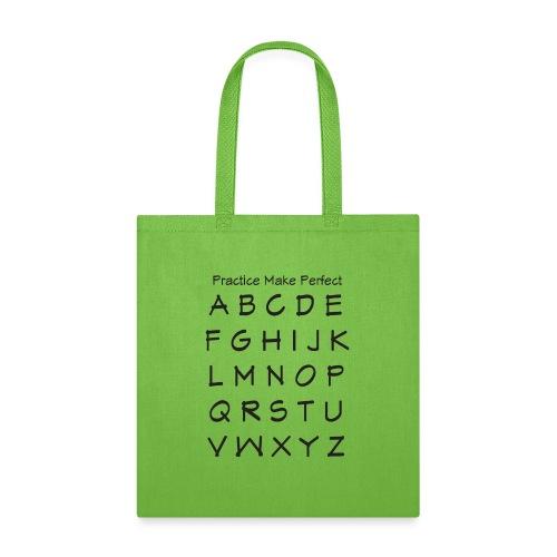 AlphabetTshirt - Tote Bag