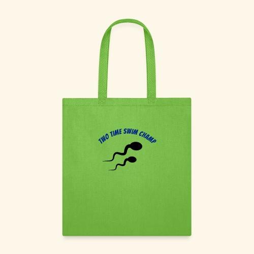 Adult Fathers day swim champ - Tote Bag