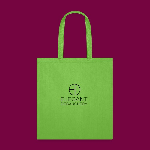 Elegant Debauchery Logo Stacked - Tote Bag