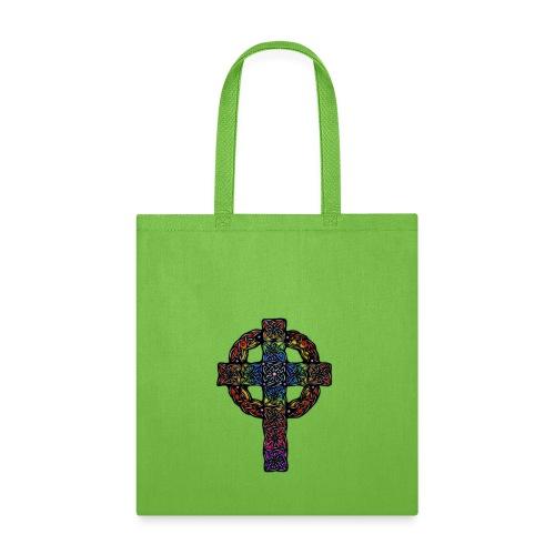 Celtic Cross rainbow - Tote Bag