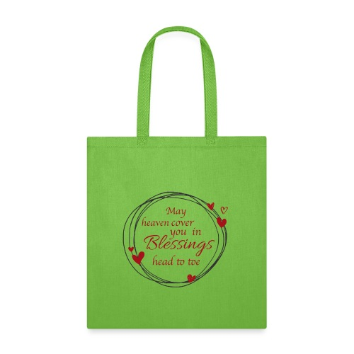 Blessings head to toe hearts - Tote Bag
