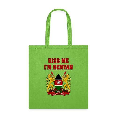 Kiss Me, I'm Kenyan - Tote Bag