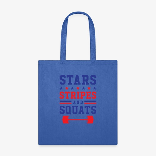 Stars, Stripes And Squats - Tote Bag