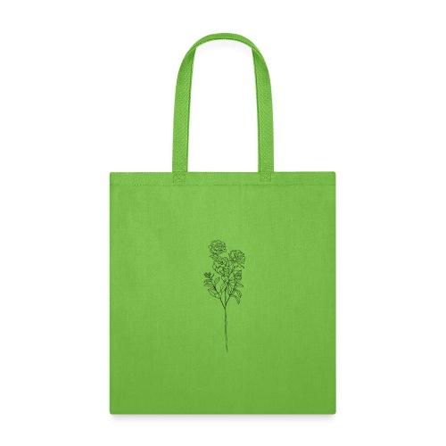 Minimal Floral Line Art Print - Tote Bag