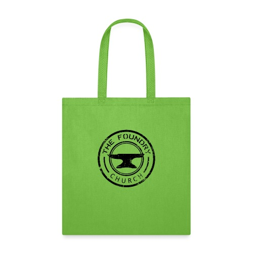 Foundry Church Logo Distressed black 12 in - Tote Bag