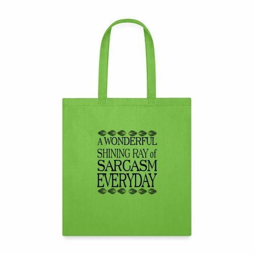shining ray of sarcasm - Tote Bag