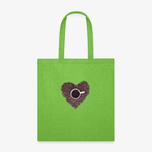 I Heart Coffee Black/White Mug - Tote Bag