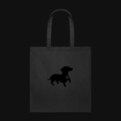Dachshund love silhouette black - Tote Bag