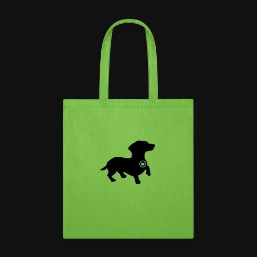 Dachshund love silhouette black - Tote Bag