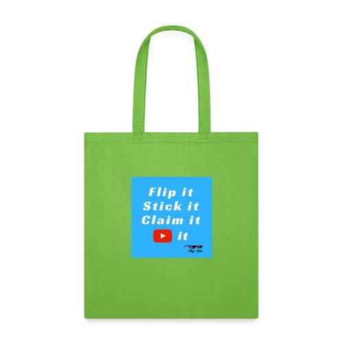 Flip It Blue Back Flip T-shirt - Tote Bag