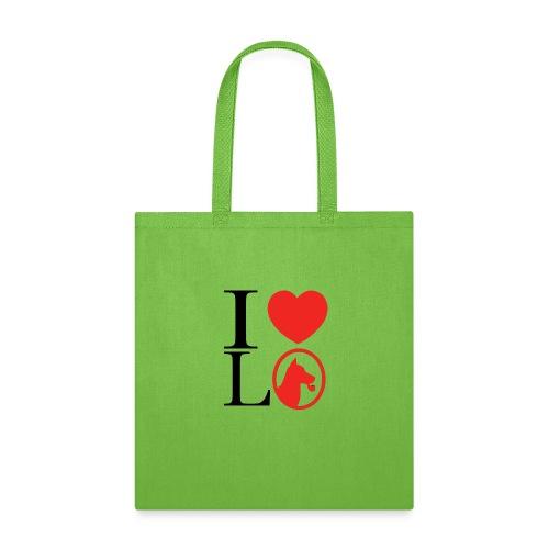 I heart L O - Tote Bag