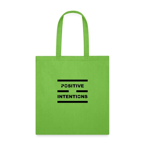 Positive Intentions Black Letters - Tote Bag