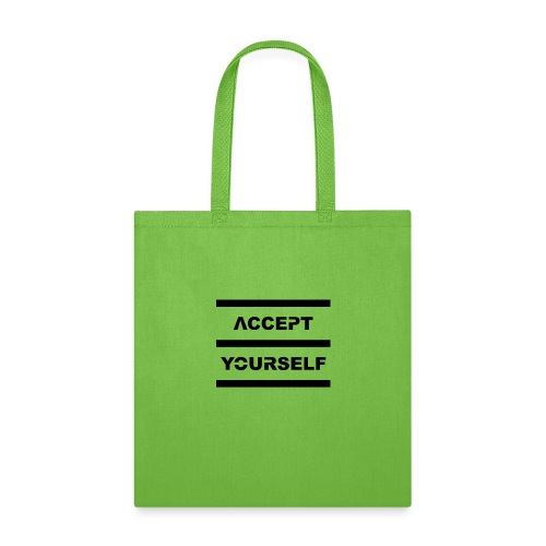 Accept Yourself Black Letters - Tote Bag