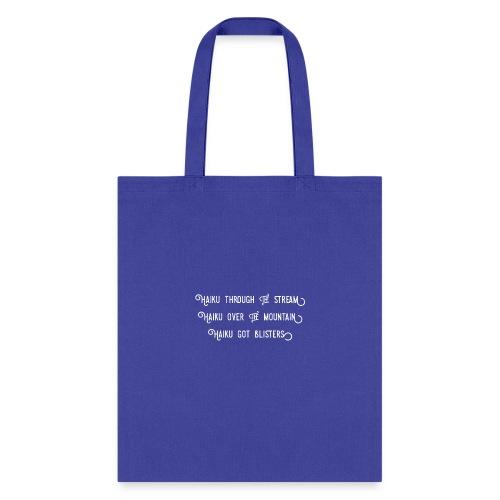 Haiku over the mountain - Tote Bag