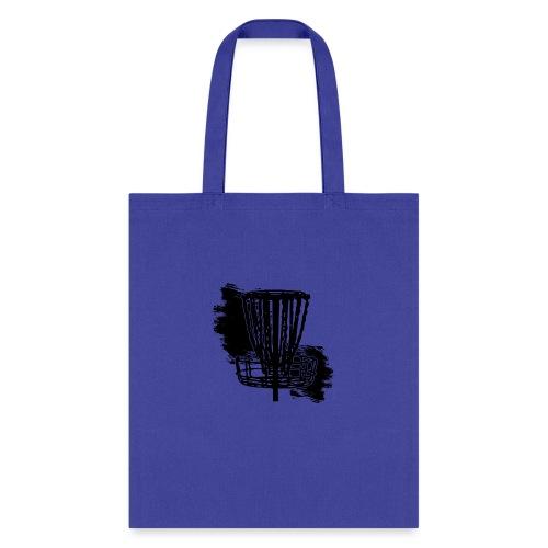 Disc Golf Basket Paint Black Print - Tote Bag