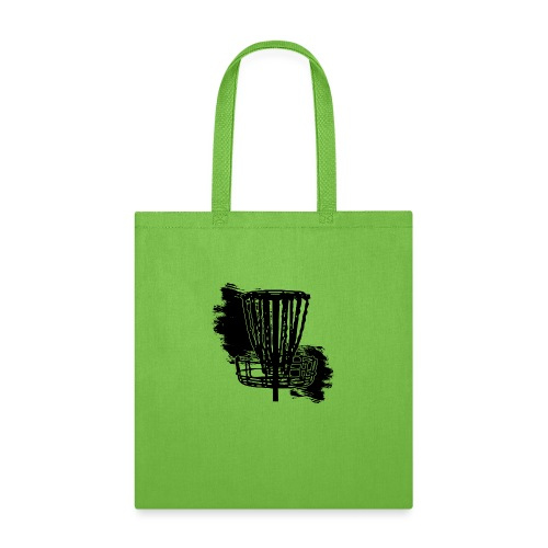 Disc Golf Basket Paint Black Print - Tote Bag