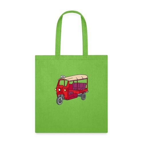 Red Tuktuk or autorickshaw - Tote Bag