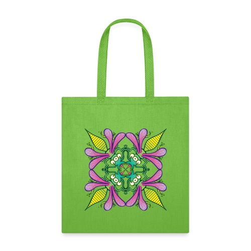 Glowing insects meeting in the middle of the night - Tote Bag