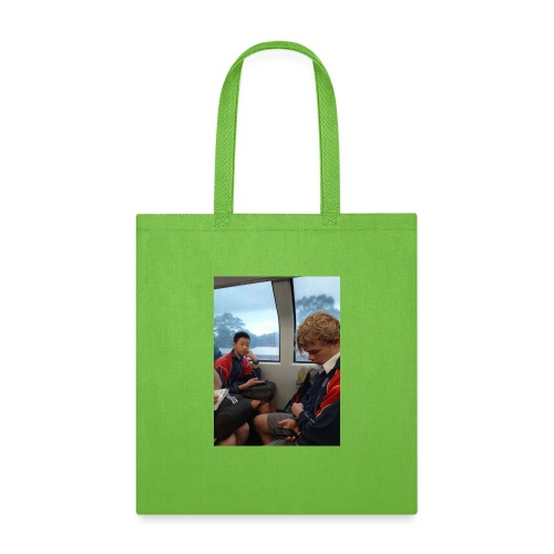 VOOMAS TIME on the train - Tote Bag