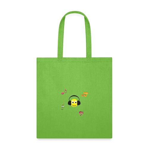 smiley face headphones - Tote Bag