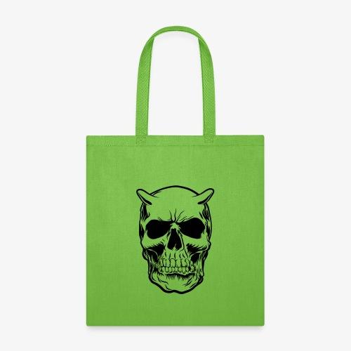 Big Face skull positif - Tote Bag