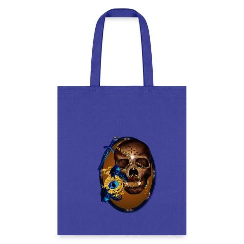 Oval-Dark Skull with Evil - Tote Bag