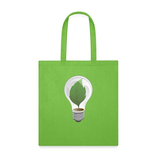Clean Energy Green Leaf Illustration - Tote Bag