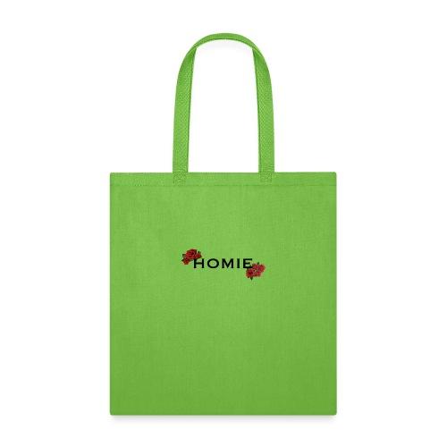 HOMIE ROSE BLKFONT - Tote Bag