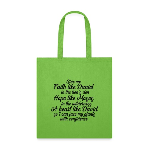 Face your giants with confidence - Tote Bag