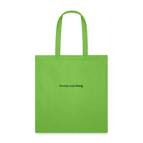 fearfully made beauty - Tote Bag
