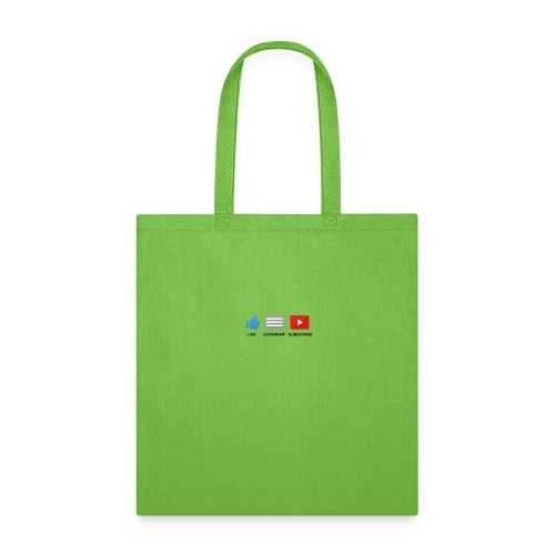 small - like, comment, subscribe - Tote Bag