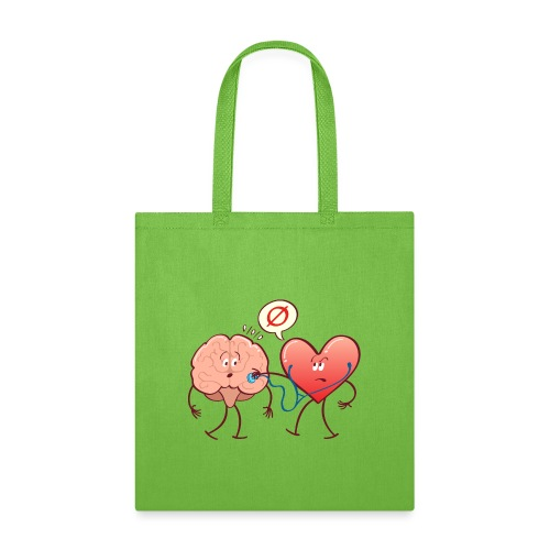 Heart examinating Brain with Stethoscope - Tote Bag