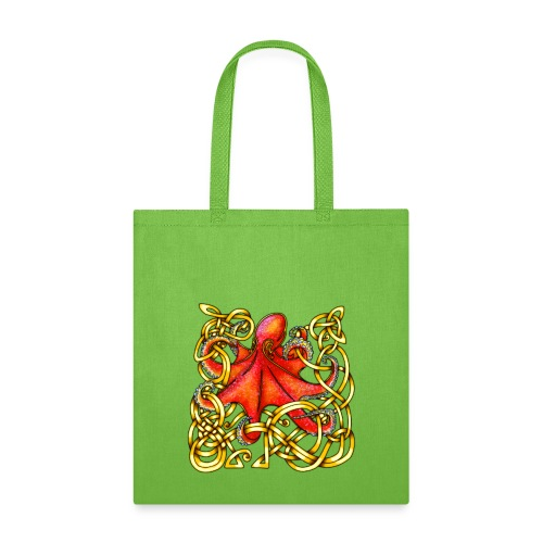 Octopus - Red & Gold - Tote Bag