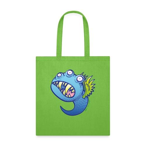Winged little blue monster - Tote Bag