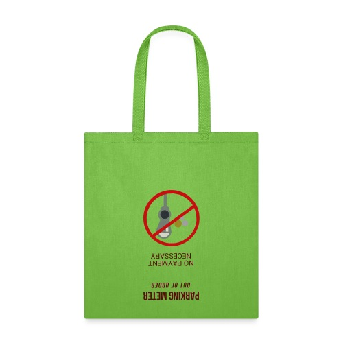 parkingmeterupsidedown.png - Tote Bag