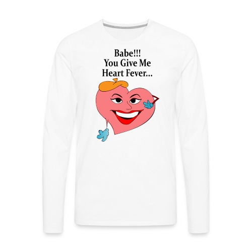 Heart Fever - Men's Premium Long Sleeve T-Shirt