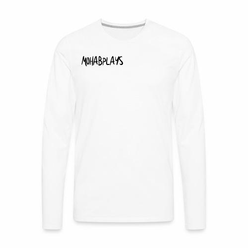 MohabPlays Plain Logo - Men's Premium Long Sleeve T-Shirt