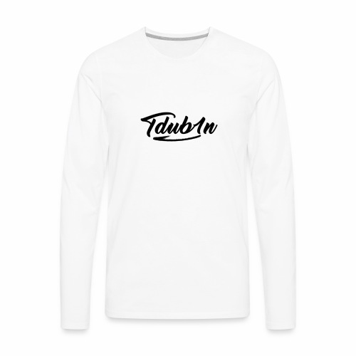 Tdub1n Black Logo - Men's Premium Long Sleeve T-Shirt