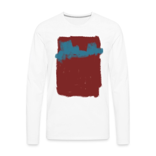 Scribble Blue Red Abstract T-shirt - Men's Premium Long Sleeve T-Shirt