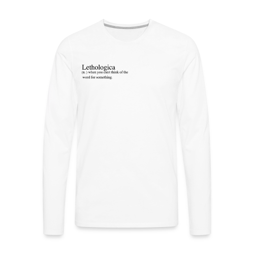 Lethologica - Men's Premium Long Sleeve T-Shirt