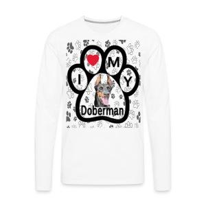 I love Doberman - Men's Premium Long Sleeve T-Shirt