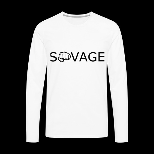 savage black design - Men's Premium Long Sleeve T-Shirt
